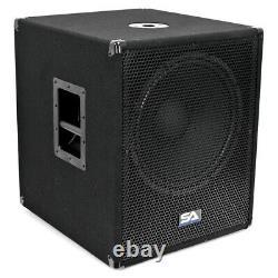 Powered 15 Pouces Pro Audio / Dj Subwoofer Cabinet Avec Classe D Amp 1000 Watts