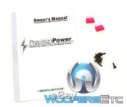 Precision Power Trax1.2000d Monobloc De Haut-parleurs 2 Caissons De Basse Ohm Amplificateur