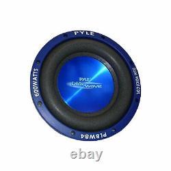 Pyle Plbw84 8 Pouces 600 Watts DVC Car Audio Subwoofer Haut-parleurs, Bleu (4 Pack)