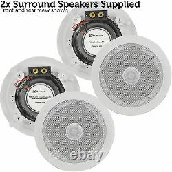 Quality 2.1 Plafond /toit Stereo Speaker System 320w Home Cinema Hi-fi Subwoofer