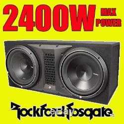 Rockford Fosgate Double 12 Punch 2400w Car Audio Subwoofer Sub Basse Woofer Box