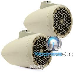 Rockford Fosgate Pm282w Blanc 8 400w Marine Audio Boat Wakeboard Tower Haut-parleurs
