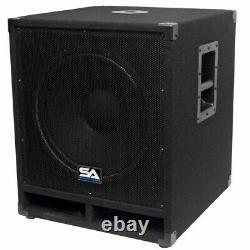Seismic Audio 15 Pro Audio Sub Cabinet Pa Dj Pro Audio B - Haut-parleur Nouveau Sous 300w