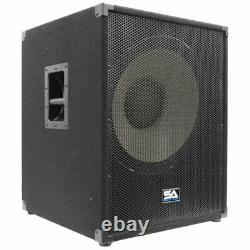 Seismic Audio 18 Pa Powered Subwoofer Active Speaker