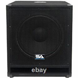Seismic Audio Pair 15 Pro Audio Sub Cabinet Pa Dj Pro Haut-parleur Audio Sub 300w
