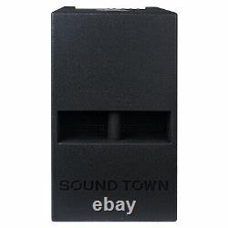 Sound Town 1400w 12 Powered Pa Dj Subwoofer, 2 Sorties Horn Pliée Carpo-12dspw