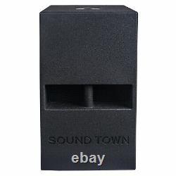 Sound Town Carme 12 1600w Subwoofer De Corne Pliée Powered Black Carme-112spw-pair