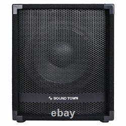 Sound Town Metas 1400w 12 Powered Pa Dj Subwoofer Avec 3 Bobines Vocales Metas-12spw