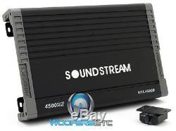Soundstream Ar1.4500d Monoblock 4500w Haut-parleurs Subwoofers Basse Voiture Amplificateur Nouveau