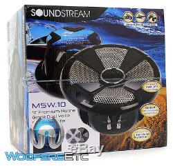 Soundstream Msw. 104 10 600w Marine Bateau Double 4 Ohms Caisson De Basses-parleurs Bass Nouveau