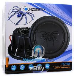 Soundstream T5.152 15 Tarantula Max Dual 2 Ohms Subwoofer Enceintes Bass Nouveau
