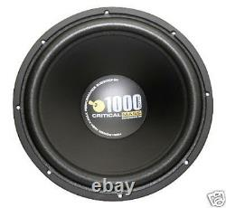 Ss152 15 Subwoofer Critical Mass Audio Sub Amp Eq Ul12 Best Jl Speaker USA Nr
