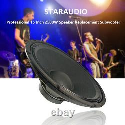 Staraudio 2x 2500w 15 Subwoofers Remplacement Accueil Pa Audio Speaker Woofers Basse