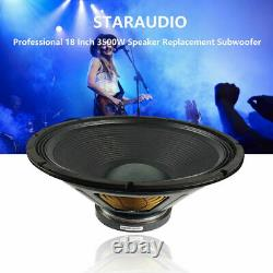Staraudio Paire 3500w 18 Dj Haut-parleur Subwoofers Remplacement Pa Audio 8 Ohms Basse
