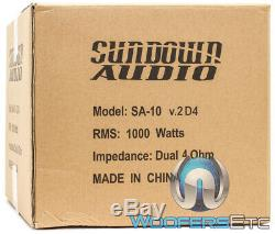 Sundown Audio Sa-10 V. 2 D4 10 Dual 4 Ohm 1000w Rms Caisson De Basses-parleurs Bass Nouveau