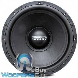 Sundown Audio Sa-15 V. 2 D4 15 1000w Rms Double 4 Ohms Caisson De Basses-parleurs Bass Nouveau