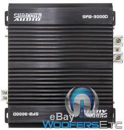 Sundown Audio Sfb-3000d Monobloc De Classe D Rms Subwoofers Voiture Amplificateur Nouveau