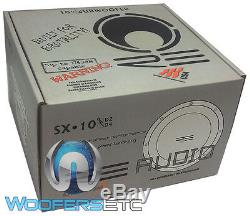 Sx10d4 Re Audio 10 2000w Puissance Sous 4 Ohms Double Basse Caisson De Graves Haut-parleur Nouveau