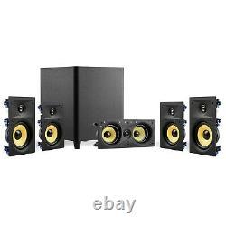 Tdx 5.1 Surround Sound Home Theater System, 6.5 Haut-parleurs Muraux, 8 Subwoofer