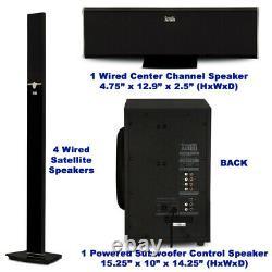 Tour Acoustique Audio Bluetooth 5.1 Système De Haut-parleur À La Maison Avec 8 Subwoofer Alimenté