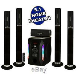 Tour Bluetooth Acoustic Audio 5.1 Accueil Système D'enceintes Avec Caisson De Basses 8 Powered