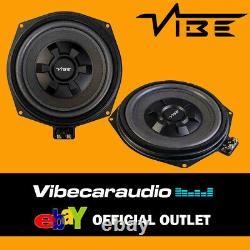 Vibe Bmw 1 3 5 Série X1 8 Sous-siège Factory Fit Voiture Subwoofer Pair 345w Total